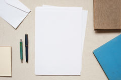 Blank sheet of paper on the table Royalty Free Stock Photo