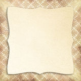 Blank sheet on retro patterned background Stock Photo