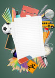 Blank sheet school Royalty Free Stock Photos