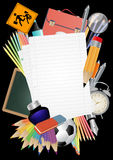 Blank sheet school Royalty Free Stock Photo