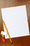 Blank sheet of school notebook Royalty Free Stock Photography