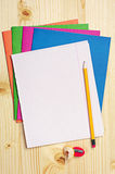 Blank sheet of school notebook Royalty Free Stock Photo