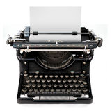 Blank sheet in a typewriter Stock Photo