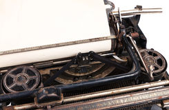 Blank sheet in a typewriter Stock Photos