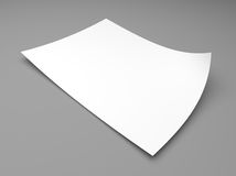 Blank sheet of white paper Royalty Free Stock Image