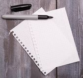 Blank sheets Stock Photography