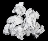 Blank sheets of crumpled paper Stock Photo