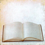 Blank sheets of old books for records on vintage background Royalty Free Stock Photos