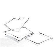 Blank sheets of paper, icon Royalty Free Stock Photos