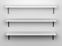 Blank Shelves Royalty Free Stock Images