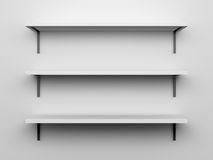 Blank Shelves Stock Image