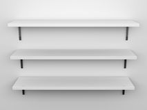 Blank Shelves Royalty Free Stock Photos