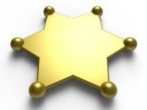 Blank sheriff badge Stock Image