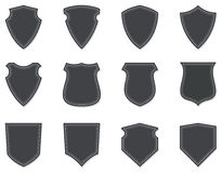 Blank Shields & Badges. A set of blank shields and badges to use as templates Stock Images