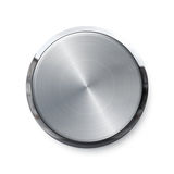 Blank shiny push button Royalty Free Stock Images