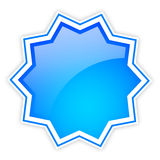 Blank shiny star icon Royalty Free Stock Photos