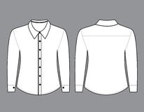 Blank shirt with long sleeves template Royalty Free Stock Photography