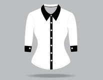 Blank shirt with long sleeves template Royalty Free Stock Images