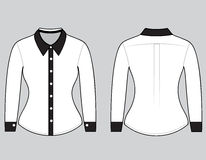 Blank shirt with long sleeves template Royalty Free Stock Photo