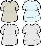 Blank Shirt Template Stock Images