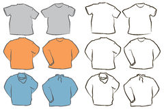 Blank Shirt Templates Royalty Free Stock Photography