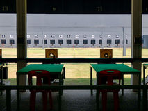 Blank shooting gallery. Blank shooting gallery in sport day royalty free stock photo