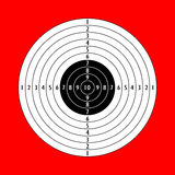 Blank shooting target Stock Image