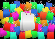 Blank shopper Royalty Free Stock Images