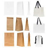 Blank shopping bags Stock Images