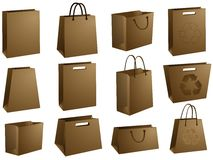 Blank shopping bags Royalty Free Stock Photos