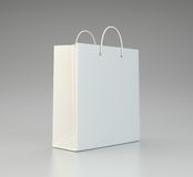 Blank shopping paper bag template Stock Photography