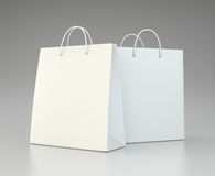 Blank shopping paper bags set. Stock Images