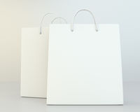 Blank shopping paper bags set. Royalty Free Stock Photography