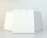 Blank shopping paper bags set. Stock Photos