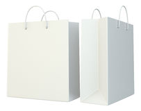 Blank shopping paper bags set. Stock Photography