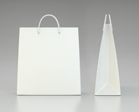 Blank shopping paper bags template set Royalty Free Stock Photos