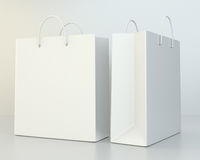 Blank shopping paper bags template set Royalty Free Stock Image