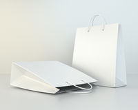 Blank shopping paper bags template set Stock Photo