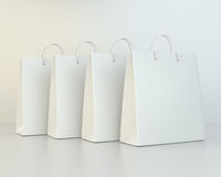 Blank shopping paper bags template set Stock Images