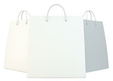 Blank shopping paper bags template set Stock Photos