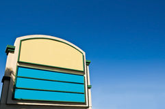 Blank shopping plaza sign Royalty Free Stock Images