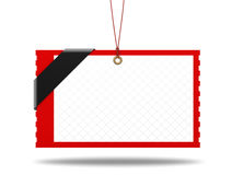 Blank shopping tag 3d illustration Stock Photos