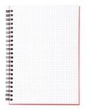 Blank sida av en anteckningsbok med den svarta limbindningen Royaltyfria Bilder