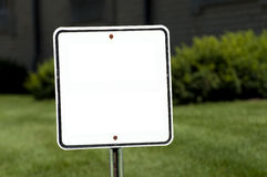 Blank Sign. Blank empty white road sigh ready for you to add type Royalty Free Stock Image