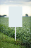 Blank Sign. Blank empty white sign ready for you to add type Royalty Free Stock Photography