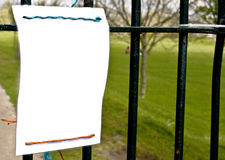 Blank sign. Royalty Free Stock Image