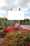 Blank sign. Blank road sign suitable for advertising banner Stock Photography