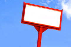 Blank sign. In red perfect for use to advertise any type of business you have in mind Stock Photo