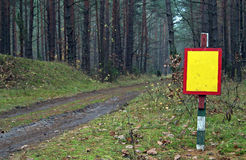 Blank Sign. A blank sign in a forest Royalty Free Stock Image