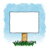 Blank Sign. Outdoors with sky background for advertising a message Royalty Free Stock Images
